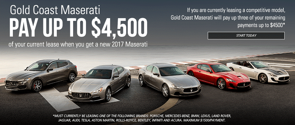 Gold Coast Maserati Special Offer