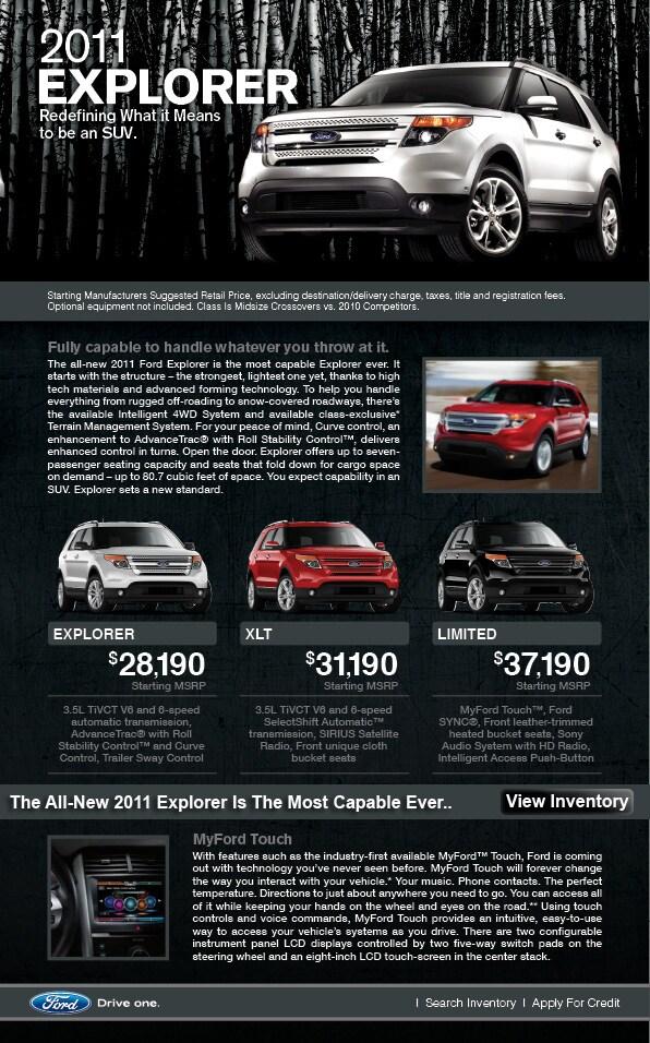 2011 Ford Explorer Price | Texas Ford Dealer | Grapevine TX