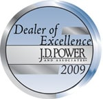 JD Power and Associates Dealer of Excellence