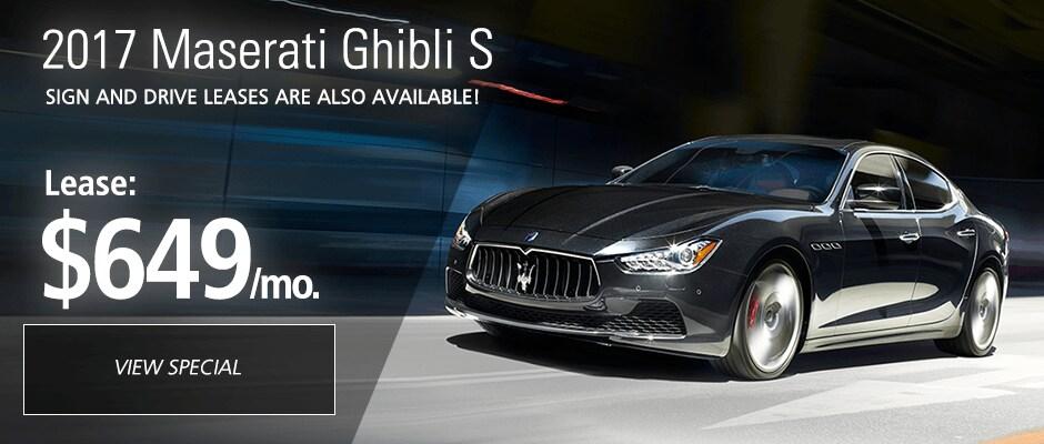 2017 Maserati Ghibli S Lease