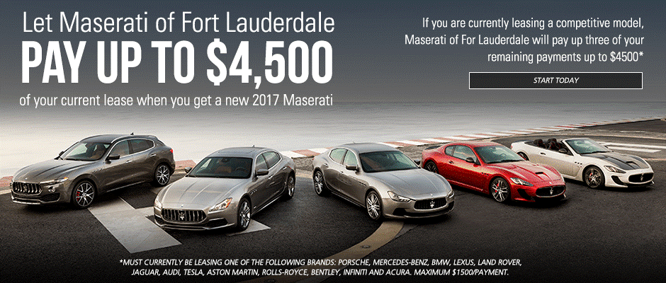 Maserati of Fort Lauderdale Lease Offer
