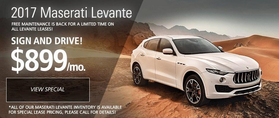 2017 Maserati Levante Lease