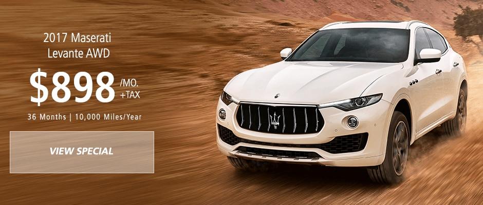 Maserati Levante SUV lease