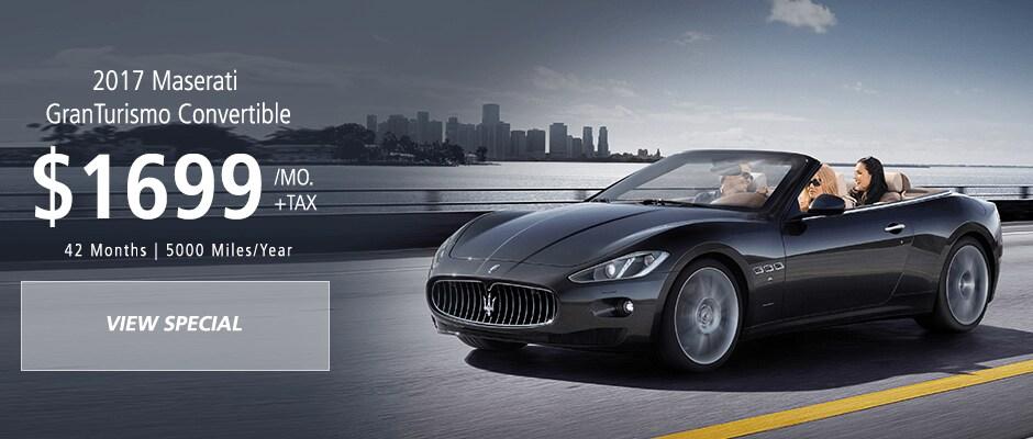 Maserati Granturismo Convertible lease