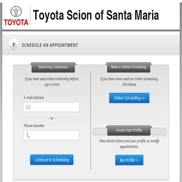 Schedule Your Service Online at Toyota Santa Maria