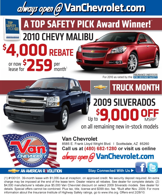 Van Chevrolet | New Chevrolet dealership in Scottsdale, AZ 85260