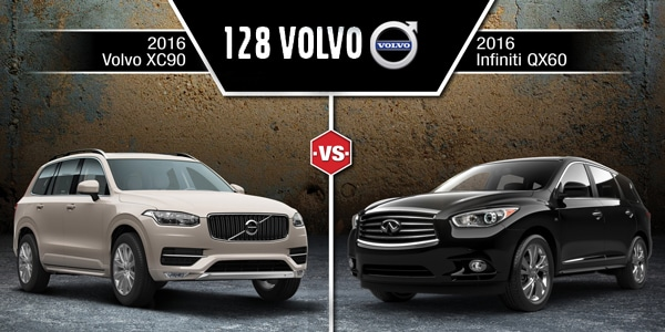 2016 volvo xc90 vs infiniti qx60 near boston ma 128 volvo. Black Bedroom Furniture Sets. Home Design Ideas