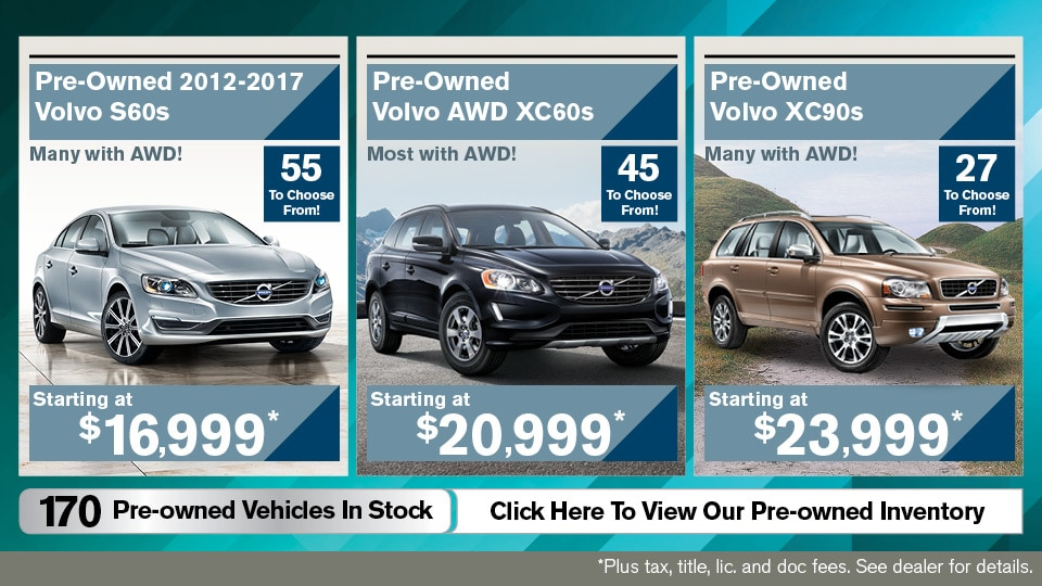 Great deals on Volvo pre-owned inventory serving drivers near Boston, MA