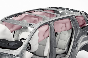 Overhead Inflatable Curtain Airbag