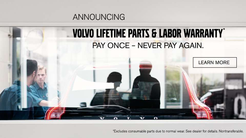 Volvo Lifetime Parts and Labor Warranty Boston Ma