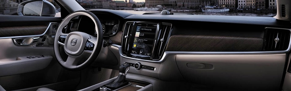 interior image of 2018 Volvo S90 luxury sedan