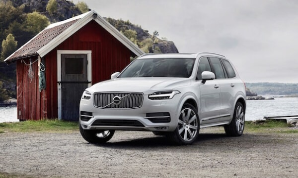 Volvo XC90 by lake