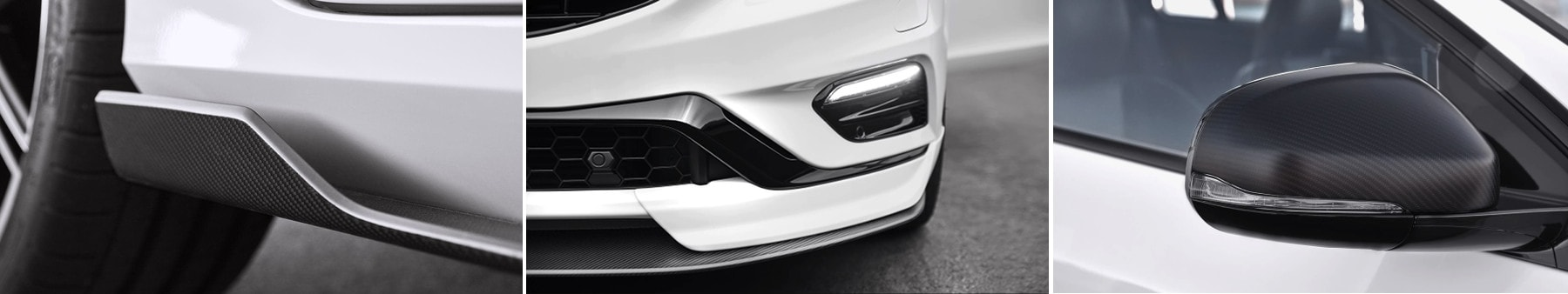 Volvo Polestar side skirt, mirror cap and front splitter