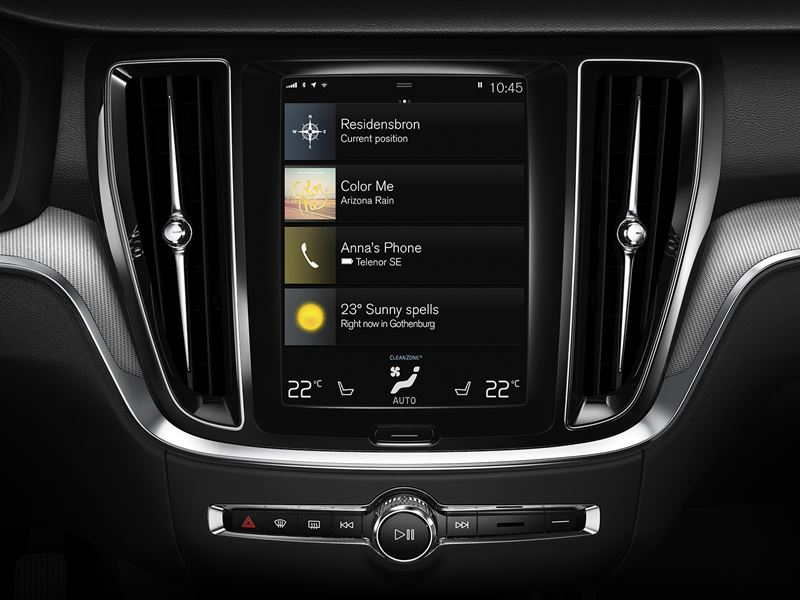 2019 Volvo s60 infotainment screen