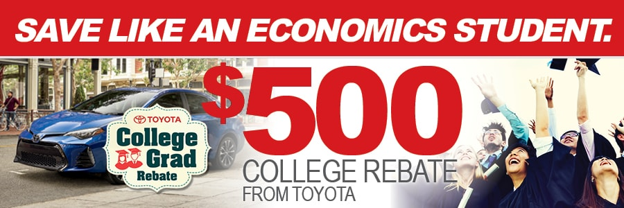 Toyota College Rebate Program