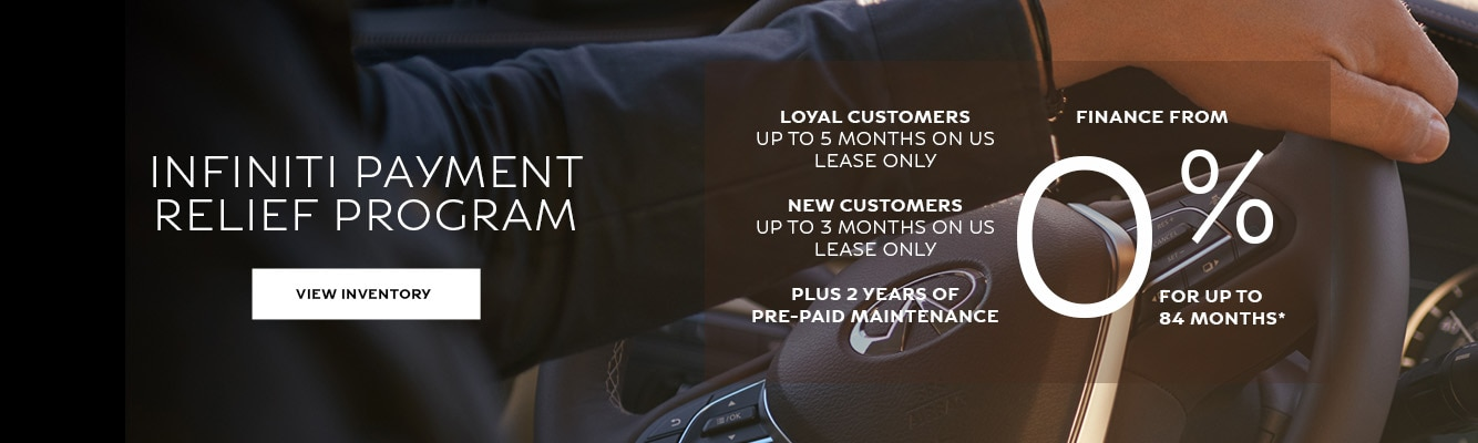 INFINITI Payment Relief Program - INFINITI Dealer in Woodbridge, ON