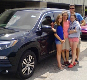 The Hennessey family and their all new 2016 Honda Pilot
