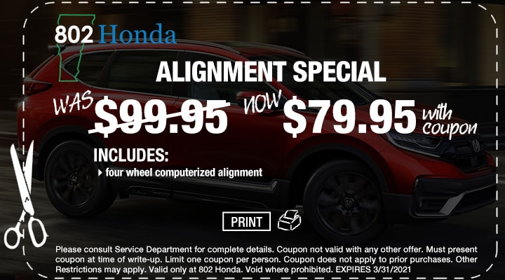 802 Honda Free  Vermont State Inspection Coupon