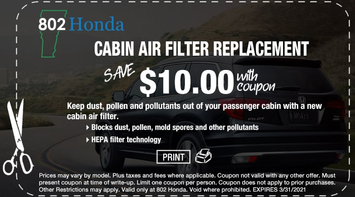 802 Honda Free Battery Inspection Coupon