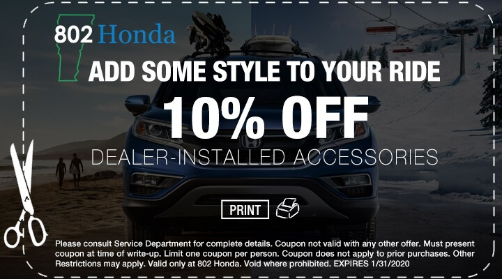 802 Honda Accessories Coupon