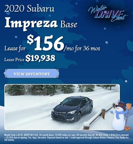 January 2020 Subaru Impreza Base