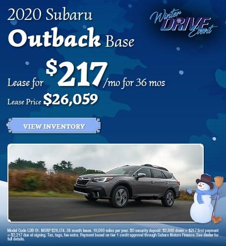 January 2020 Subaru Outback Base