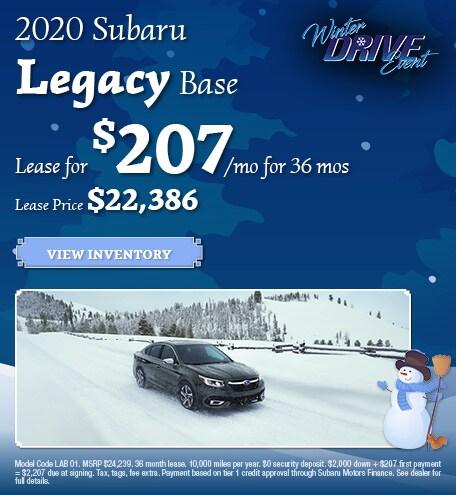 January 2020 Subaru Legacy Base