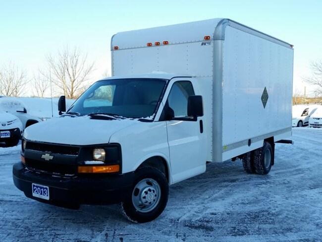 2013 Chevrolet Express 3500 14' CUBE/BOX/STAKE TRUCK--C/W BOX HEATER Cutaway