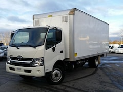 2015 HINO 195--20' CUBE/BOX/STAKE TRUCK-C/W REMOVABLE RAMP