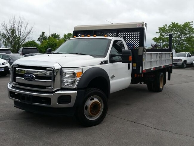2016 Ford F-550 CHASSIS CAB FLAT BED W/ DROP DOWN SIDES-C/W POWER GATE Truck Regular Cab