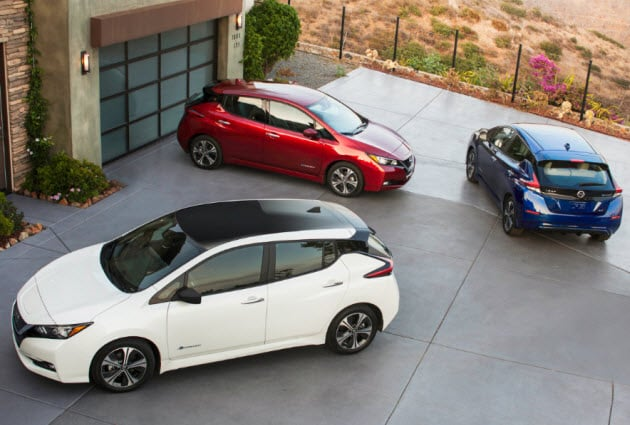 2018 Nissan LEAF models