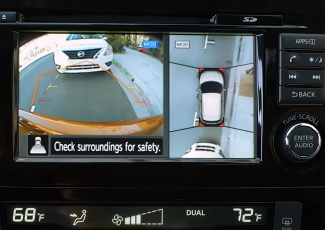 Nissan Rogue Sport Around View Monitor