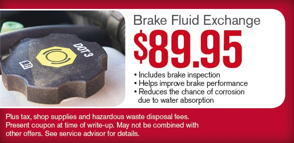 Brake Fluid Exchange, Phoenix, AZ Automotive Service Special Special