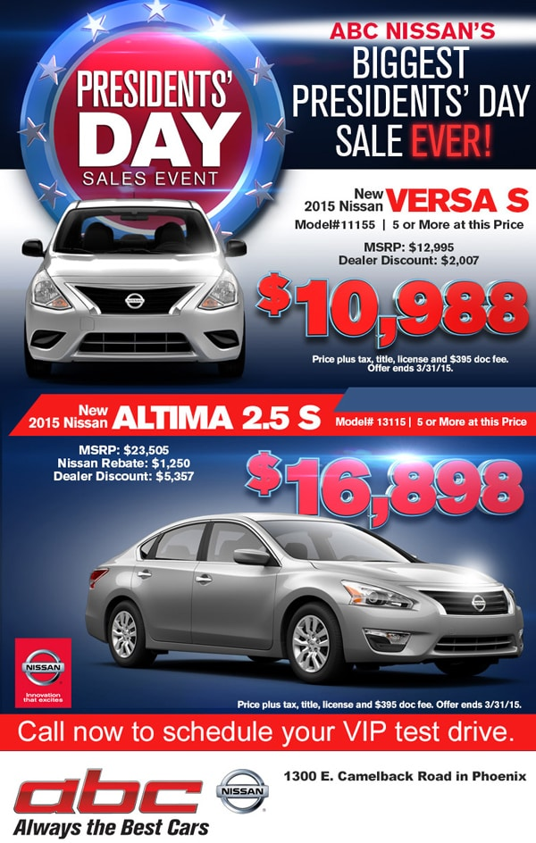ABC Nissan   New Nissan dealership in Phoenix, AZ 85014