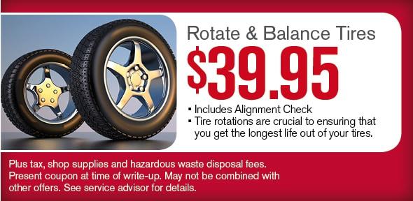 Rotate Balance Tires Abc Nissan Service Coupon Phoenix Az