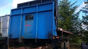 2000 Dobson Flat Deck with Under Body Hoist 17.5 FT