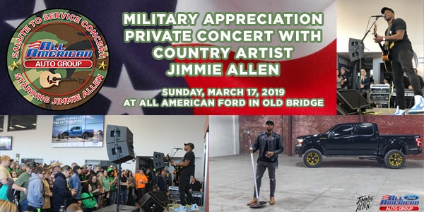 Jimmie Allen Military Appreciation Concert | All American