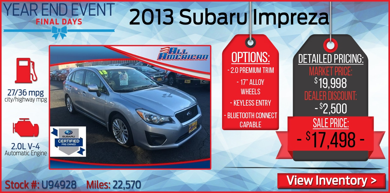 Specials on Certified Used Subaru - Certified Used Subaru For Sale ...