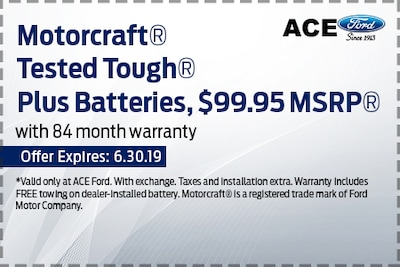 Motorcraft Tested Tough Plus Batteries, $99.95 MSRP With 84-Month Warranty
