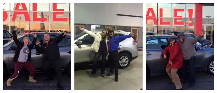 new car owners at AutoCenters Nissan in Wood River, Illinois