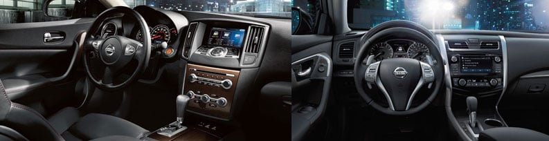 2014 nissan altima vs nissam maxima compare. Black Bedroom Furniture Sets. Home Design Ideas
