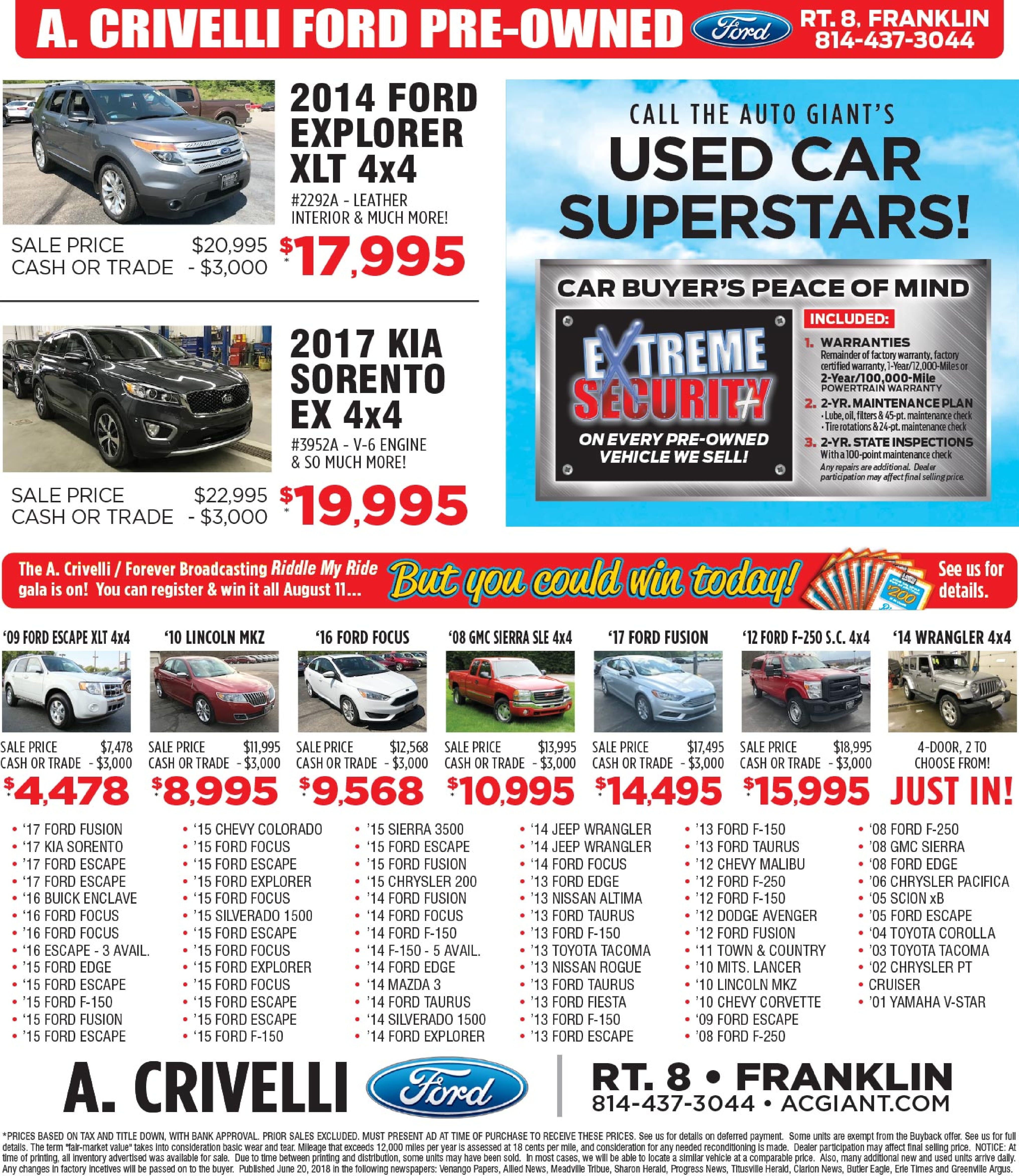 A Crivelli Ford Inc New Dealership In Franklin Pa 16323 04 Explorer Fuel Filter Although
