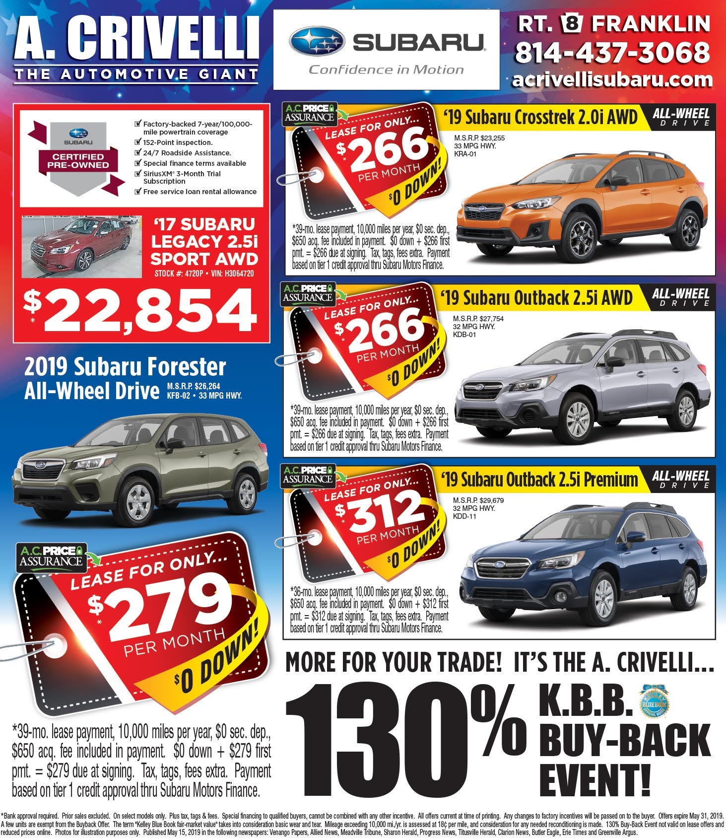 A Crivelli Subaru >> Weekly Ad A Crivelli Subaru