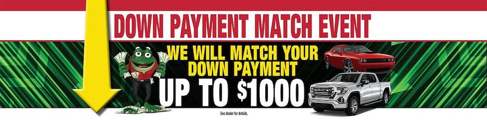Down Payment match