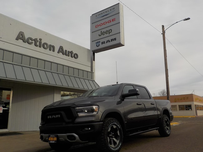 New 2019 Ram 1500 REBEL CREW CAB 4X4 5'7 BOX Crew Cab in Sidney, MT