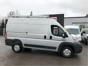 2017 Ram ProMaster 2500 HR136, ladder rack, and shelves