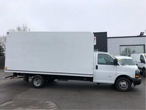 2018 GMC Savana 3500 16ft cube with ramp.
