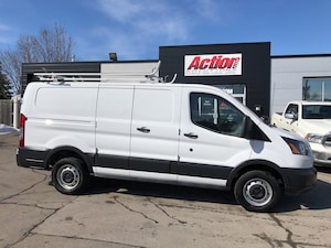 2018 Ford Transit Shelving, Divider and ladder rack!