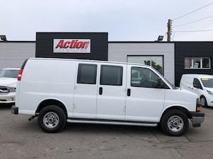 2017 Chevrolet Express GMC, shelving and ladder racks available