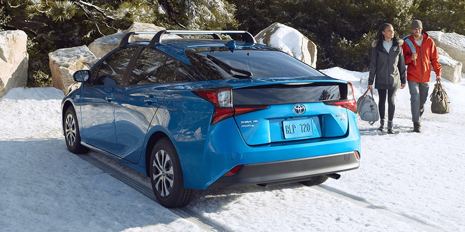2020 Toyota Prius Parked At Snowy Hiking Area